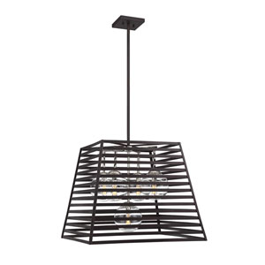 Lakewood Bronze and Stainless Steel Five-Light Pendant
