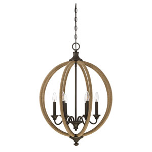 Findlay Artisan Rust Six-Light Pendant