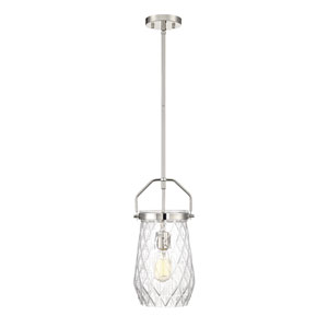 St. Clare Polished Nickel Eight-Inch One-Light Mini Pendant