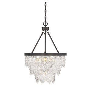 Granby English Bronze Five-Light Chandelier