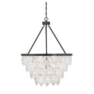 Granby English Bronze Seven-Light Chandelier