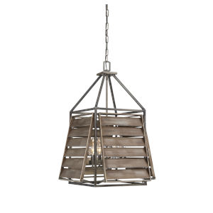 Hartberg Aged Driftwood Four-Light Outdoor Pendant