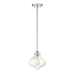 Allman Polished Chrome One-Light Mini Pendant