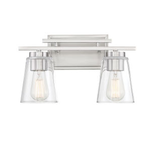 Calhoun Satin Nickel Two-Light Bath Vanity