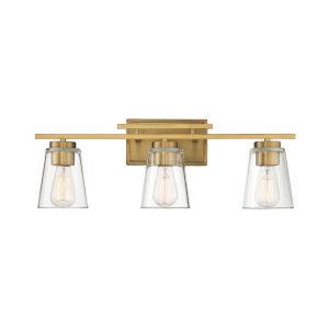 Calhoun Warm Brass Three-Light Bath Vanity