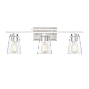 Calhoun Satin Nickel Three-Light Bath Vanity