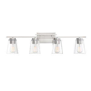 Calhoun Satin Nickel Four-Light Bath Vanity