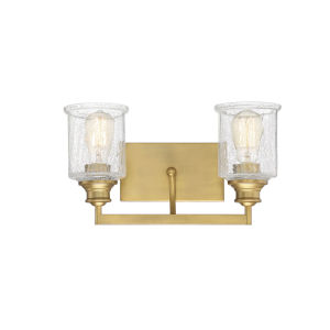 Hampton Warm Brass Two-Light Bath Vanity