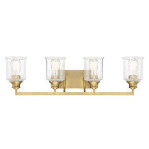 Hampton Warm Brass Four-Light Bath Vanity