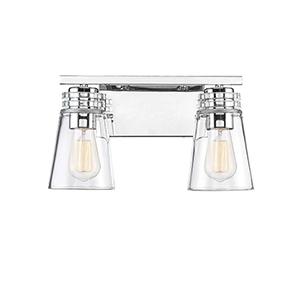 Brannon Polished Nickel Two-Light Bath Bar