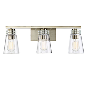 Brannon Noble Brass Three-Light Bath Bar