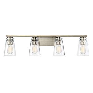 Brannon Noble Brass Four-Light Bath Bar