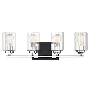 Minka Lavery Downtown Edison Brushed Nickel Four Light
