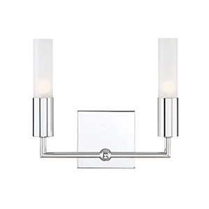 Deacon Polished Chrome Two-Light Bath Bar