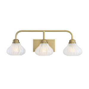 Darlington Warm Brass Three-Light Bath Vanity