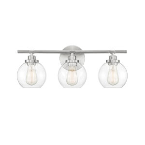 Carson Satin Nickel Three-Light Bath Vanity