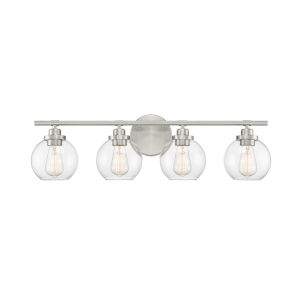 Carson Satin Nickel Four-Light Bath Vanity