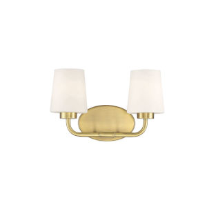 Capra Warm Brass Two-Light Bath Vanity