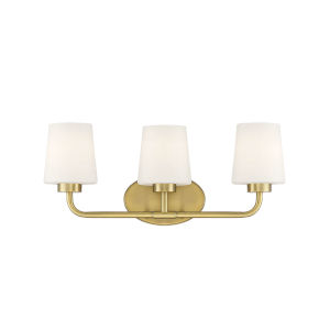 Capra Warm Brass Three-Light Bath Vanity