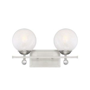 Medina Satin Nickel Two-Light Bath Vanity