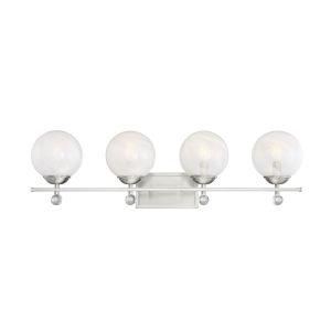 Medina Satin Nickel Four-Light Bath Vanity