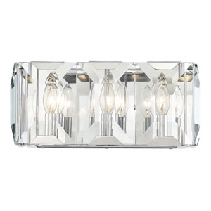 Bangle Polished Chrome Three-Light Bath Vanity