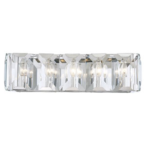 Bangle Polished Chrome Five-Light Bath Vanity