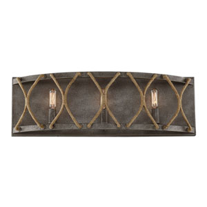 Keating Artisan Rust Three-Light Bath Vanity