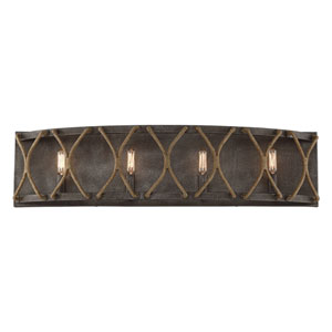 Keating Artisan Rust Four-Light Bath Vanity