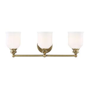 Melrose Warm Brass Three-Light Bath Vanity