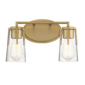 Sacremento Warm Brass Two-Light Bath Vanity