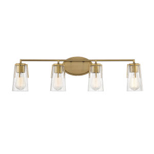 Sacremento Warm Brass Four-Light Bath Vanity