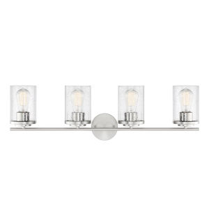 Marshall Polished Chrome Four-Light Bath Vanity
