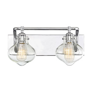Allman Polished Chrome Two-Light Bath Vanity