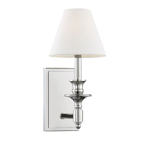 Washburn Polished Nickel One-Light Sconce
