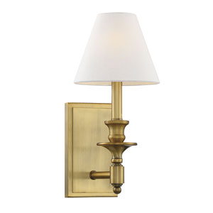Washburn Warm Brass One-Light Sconce