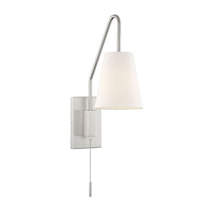 Owen Satin Nickel One-Light Sconce