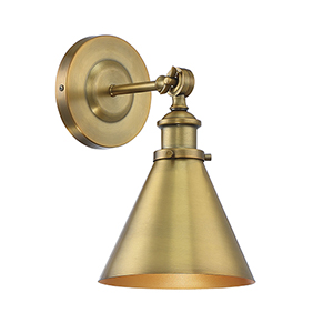 Glenn Warm Brass One-Light Wall Sconce