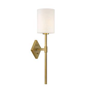 Savoy House Monroe Warm Brass One Light 20 Inch Sconce 9