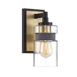 Colfax Bronze with Brass Accents One-Light Sconce