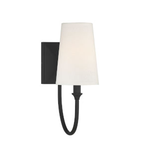 Cameron  Matte Black One-Light Wall Sconce