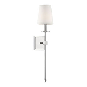 Monroe Polished Nickel One-Light Sconce