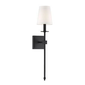 Monroe Matte Black 24-Inch One-Light Sconce