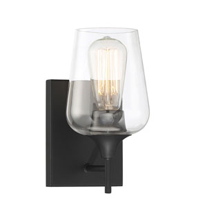 Octave Black One-Light Sconce