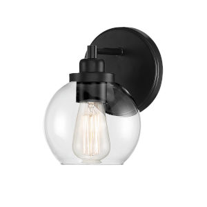 Carson Matte Black One-Light Wall Sconce