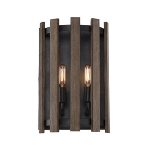 Santiago Sapele Two-Light Wall Sconce