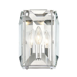Bangle Polished Chrome One-Light Wall Sconce