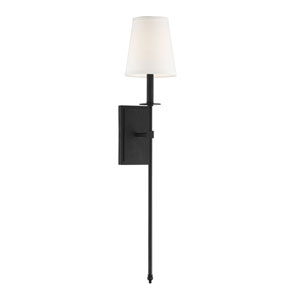 Monroe Matte Black Six-Inch One-Light Sconce