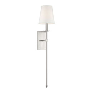 Monroe Satin Nickel Six-Inch One-Light Sconce