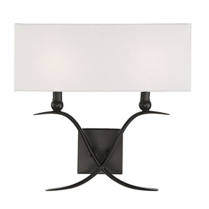 Payton Classic Bronze Two-Light Wall Sconce